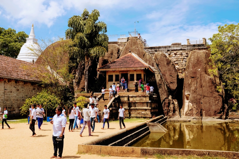 Temple d'Anhuradapura au Sri Lanka