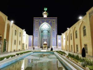 Ma Mosquée de Kerman de nuit