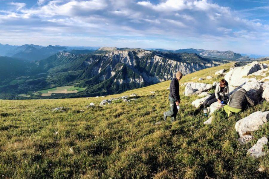 En haut du Mont Aiguille